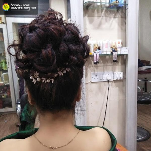 bridal hairstyle bengali